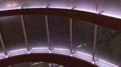 Detail glass roof night Stock Footage
