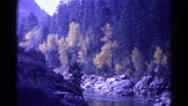1967: river running through the wilderness COLORADO Stock Footage