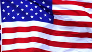 American Flag Waving in the Wind, Slow Motion Stock Footage