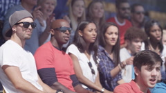 4K Sports crowd celebrating, watching the game & cheering Stock Footage