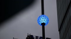 Colorful New Year's Eve Ball Stands Tall In NYC Stock Footage