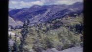 1967: traveling over valley COLORADO Stock Footage