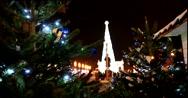 Festive Christmas illuminations on Christmas trees at ENEA Stock Footage