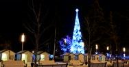 Christmas decorations at ENEA, Christmas tree and Ferris wheel Stock Footage