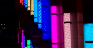 Glowing colored tubes is beautiful wink between themselves at the ice rink Stock Footage