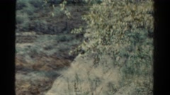 1967: art video double exposure of western dry landscape train travels. COLORADO Stock Footage