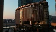 View of Osaka cityscape, Osaka, Japan Stock Footage