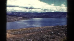 1967: lake and wilderness scenery in the mountains COLORADO Stock Footage