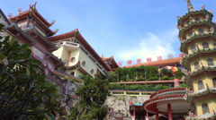 Panorama of Chinese temple Stock Footage