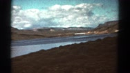 1967: traveling by river that is drying up COLORADO Stock Footage