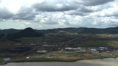 Building site of the new Panama Canal in 2012 Stock Footage