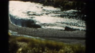 1967: flying along river with nice view of rapids. COLORADO Stock Footage