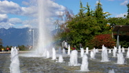 People enjoy and have fun in the fountain with 4k resolution Stock Footage