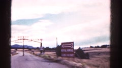 1967: driving passed the entrance to royal gorge service railway COLORADO Stock Footage