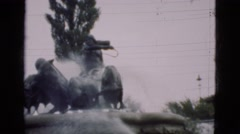 1948: view of fantastic monument in historical place downtown DENMARK Stock Footage
