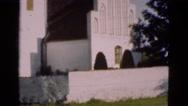 1948: white church on sunny summer day DENMARK Stock Footage
