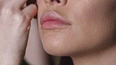 Applying Eyebrow Powder Stock Footage