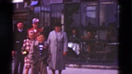 1948: family is seen going on trip with small child DENMARK Stock Footage