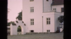 1948: scenic view of beautiful building on bright day. DENMARK Stock Footage