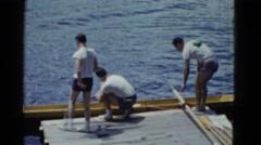 1951: water area is seen DANVILLE, ILLINOIS Stock Footage