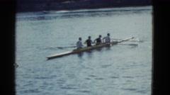 1951: boat is seen DANVILLE, ILLINOIS Stock Footage