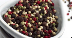 Five Peppercorns, Real Time 4K, Moving Image Stock Footage