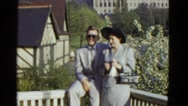 1951: couple is seen walking happily DANVILLE, ILLINOIS Stock Footage
