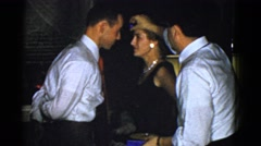 1951: man and woman fail at party game DANVILLE, ILLINOIS Stock Footage