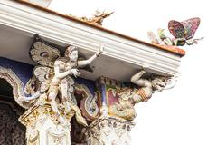 Thai statue located at Pariwat temple Bangkok Thailand Stock Photos