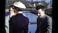 1951: man in suit is seen walking DANVILLE, ILLINOIS Stock Footage