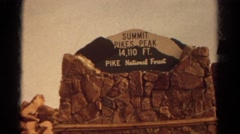 1967: video of sign COLORADO Stock Footage