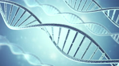 Rotating DNA, Genetic engineering scientific concept, blue tint. 4K, Ultra HD Stock Footage