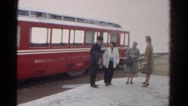 1967: old fashion trolley and people COLORADO Stock Footage