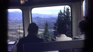 1967: people are going down in the bus COLORADO Stock Footage