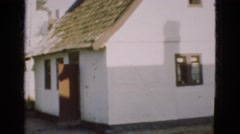 1948: view of small house in city neighborhood showing door and windows DENMARK Stock Footage