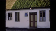 1948: beautiful house with the green roof DENMARK Stock Footage