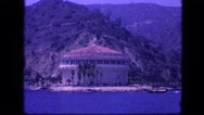 1963: tropicals beautiful view and building on the beach CALIFORNIA Stock Footage