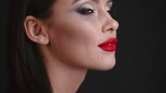 Sexy Makeup Look Stock Footage