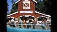 1963: german style barn CALIFORNIA Stock Footage