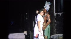 1963: lady hugs indian status CALIFORNIA Stock Footage