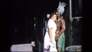 1963: lady hugs indian status CALIFORNIA Stock Footage
