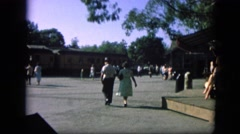 1963: married couple walking to meet train station CALIFORNIA Stock Footage