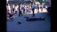 1963: man fell on the street CALIFORNIA Stock Footage