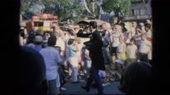 1963: crowd is seen waiting for some event CALIFORNIA Stock Footage