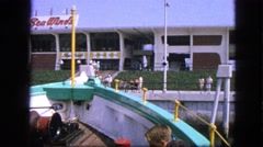 1963: sea winds building fun colorful day. CALIFORNIA Stock Footage