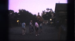 1963: family walking rural property barn at dusk CALIFORNIA Stock Footage