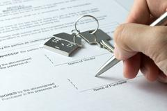 Sale and purchase agreement Stock Photos