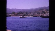 1963: view of the port with boats and the sea CALIFORNIA Stock Footage