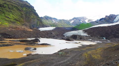 Vatna Glacier, the largest and most voluminous ice cap in Iceland Stock Footage
