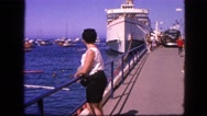 1963: busy port with many small and large vessels anchored CALIFORNIA Stock Footage